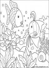 Disegni di arcobaleno da colorare for Disegni pesciolino arcobaleno
