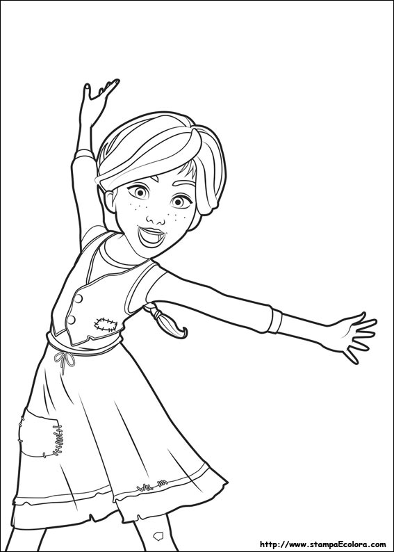 Favoloso Disegni di Ballerina da colorare ZD67