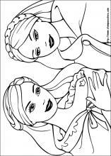 Disegni Di Barbie La Principessa E La Povera Da Colorare