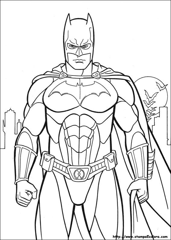 disegni da colorare batman begins