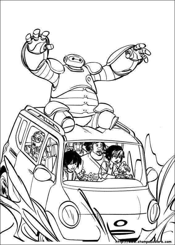 disegni da colorare big hero six