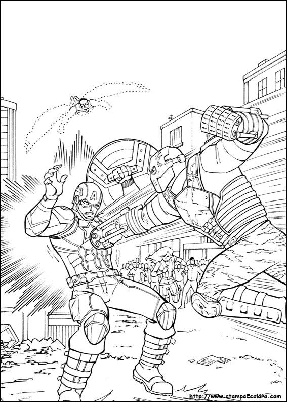 Captain America Civil War Antman Coloring Page
