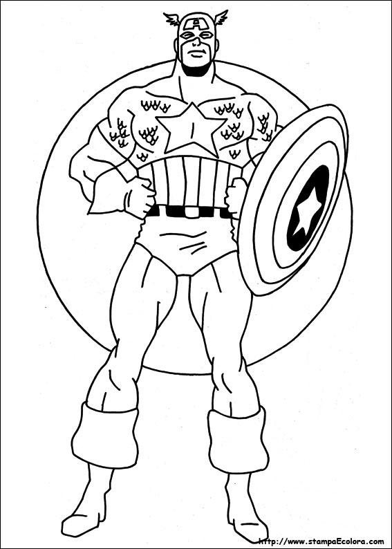 Disegni Di Captain America Da Colorare