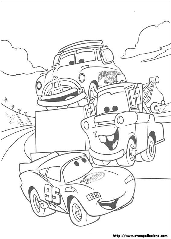Disegni de cars for Disegni da colorare macchine cars
