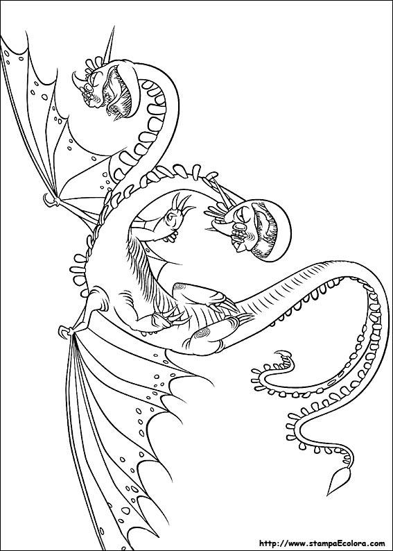 Disegni Di Dragontrainer Da Colorare