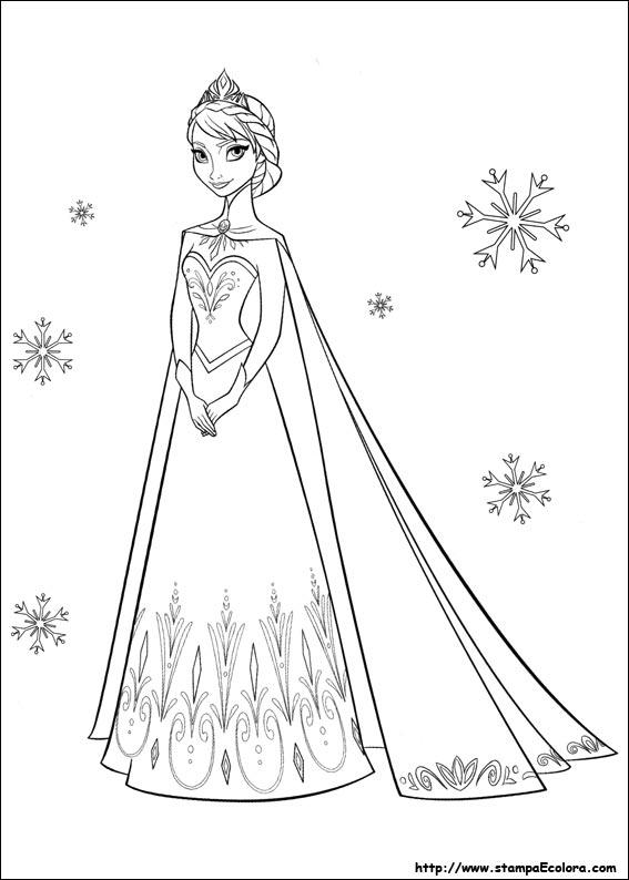 Personaggi Di Frozen Da Colorare.Disegni Di Frozen Il Regno Di Ghiaccio Da Colorare