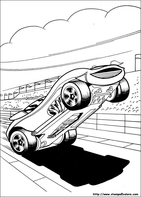 disegni da colorare e stampare delle hot wheels