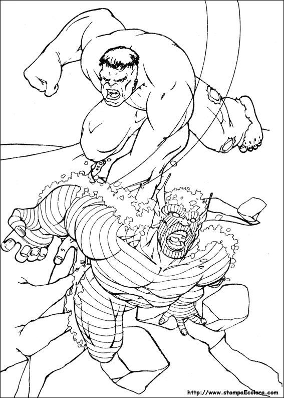 disegni da colorare di hulk 3