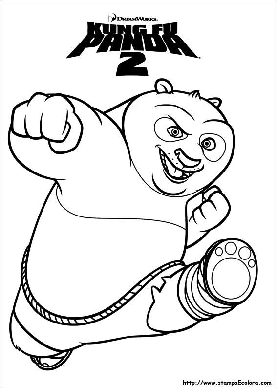 da colorare e stampare di kung fu panda 2