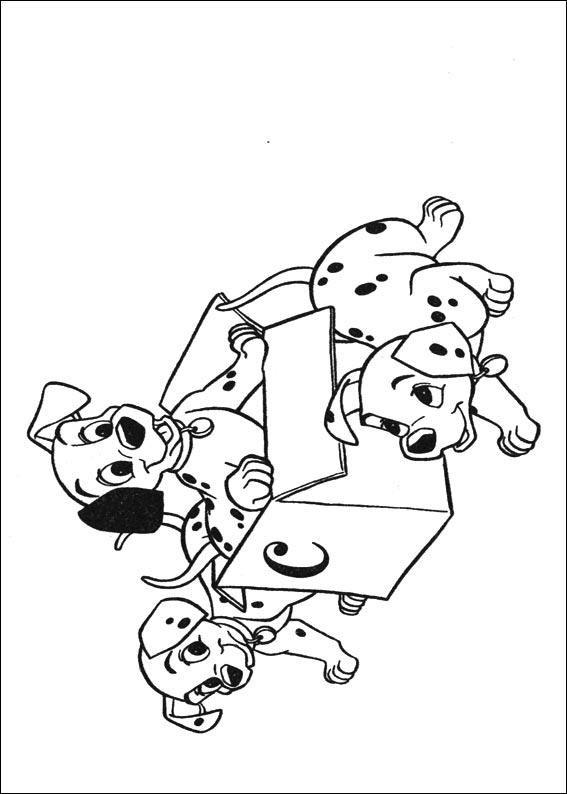 Disegni de la carica dei 101 for La carica dei 101 disegni da colorare