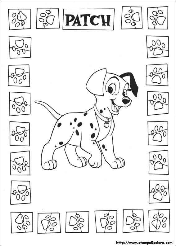 ... 101 Dalmatians Coloring Pages in addition Disegni De La Carica Dei 101