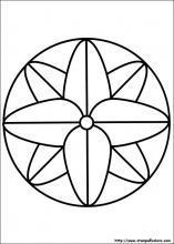 Disegni di mandala da colorare for Disegni di mandala semplici