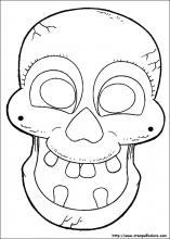Maschere Di Halloween Da Colorare.Disegni Di Maschere Di Halloween Da Colorare