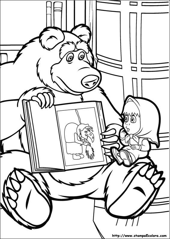 Disegni de masha e orso for Masha e orso disegni da colorare