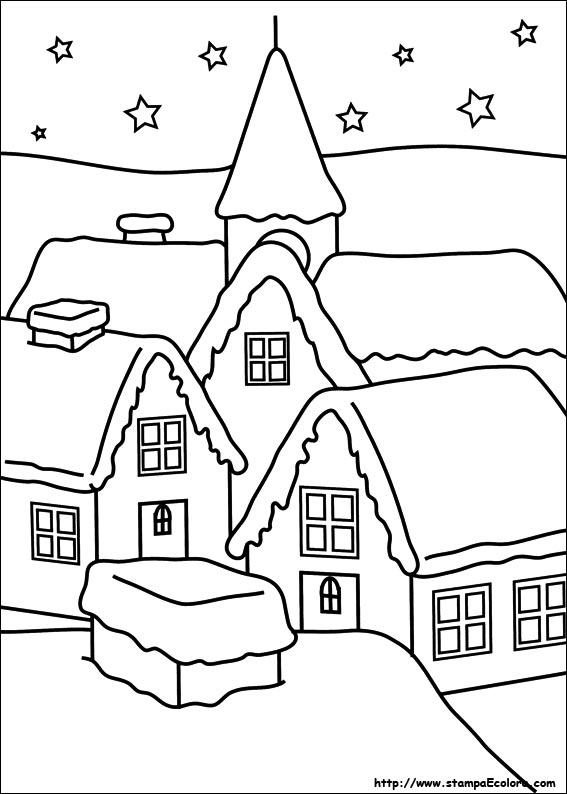 Disegni e immagini di natale da stampare e colorare for Disegni facili di natale