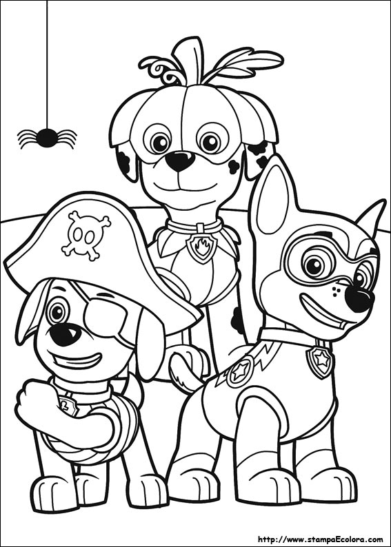 Free coloring pages paw patrol - Disegni De Paw Patrol
