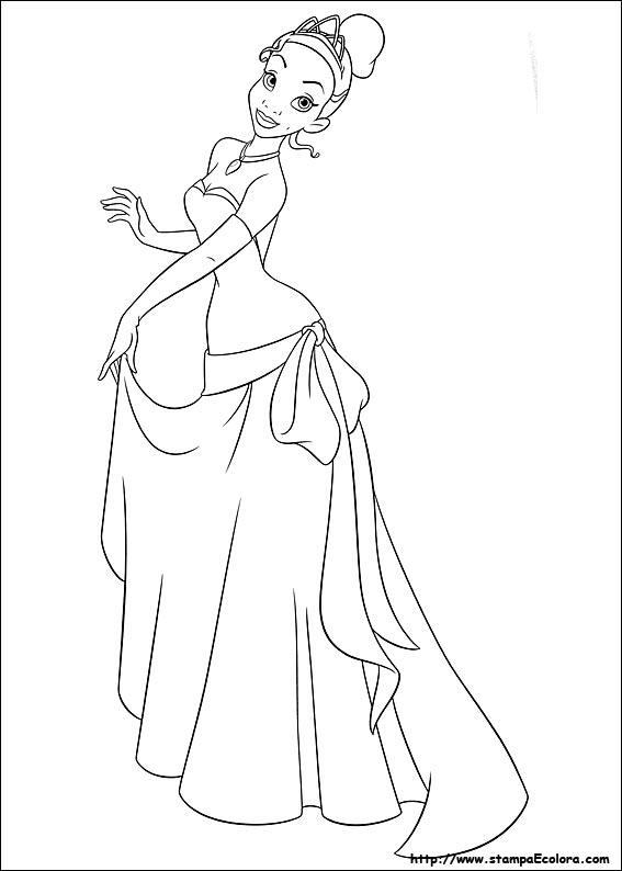 Disegni Di La Principessa E Il Ranocchio Da Colorare