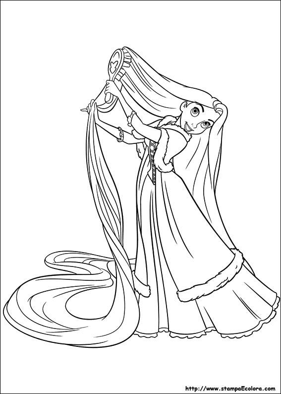 Disegni Di Rapunzel Da Colorare