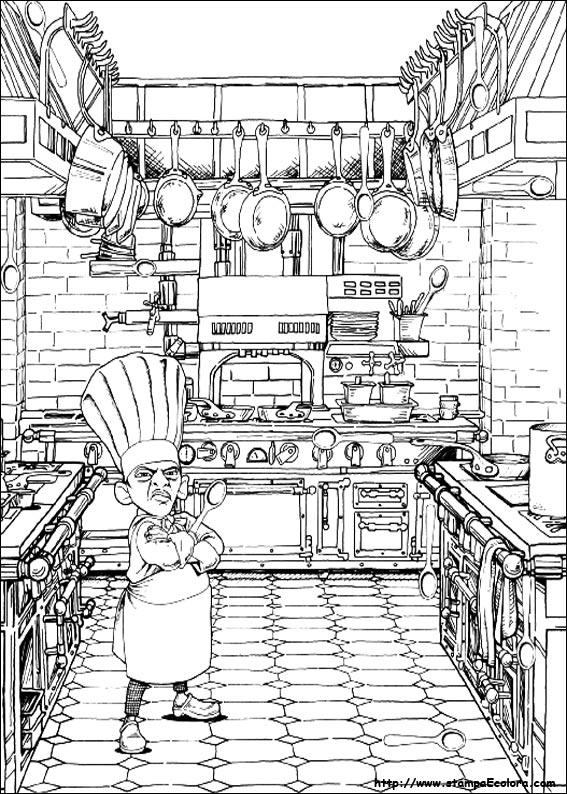 Disegni de ratatouille for Disegni da colorare cucina