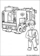 Pompiere Sam Da Colorare.Disegni Di Sam Il Pompiere Da Colorare