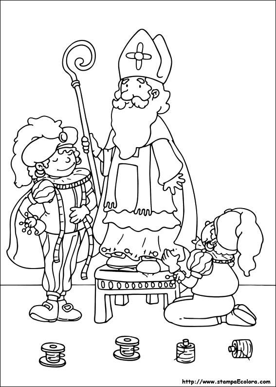 Paard Sinterklaas Kleurplaat Hoofd Disegni De San Nicola