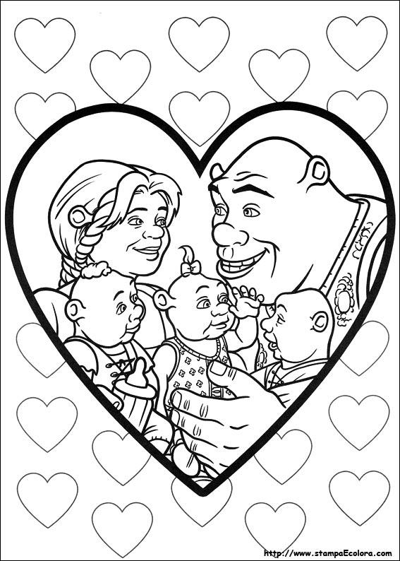 Disegni Di Shrek E Vissero Felici E Contenti Da Colorare
