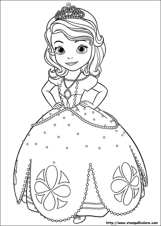 Disegni Di Sofia La Principessa Da Colorare
