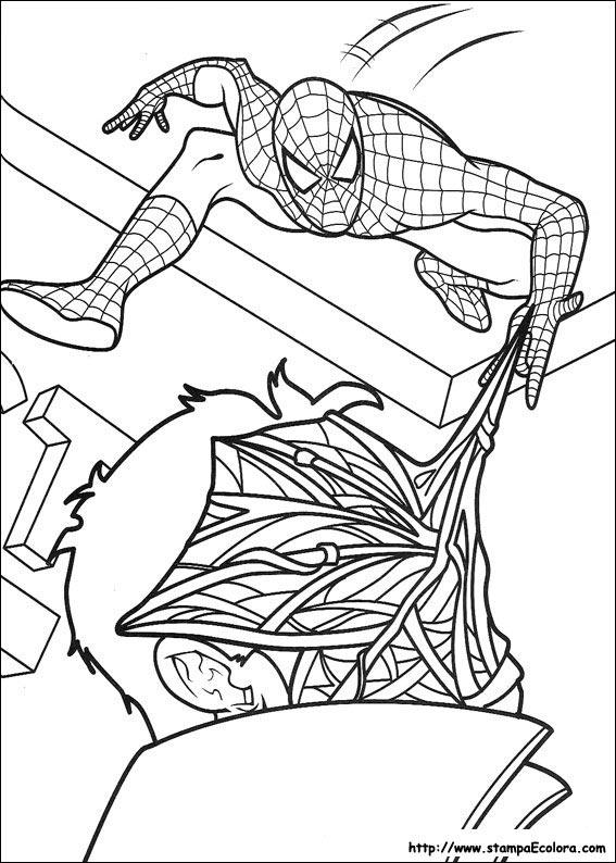 Disegni de spiderman for Spiderman da colorare on line