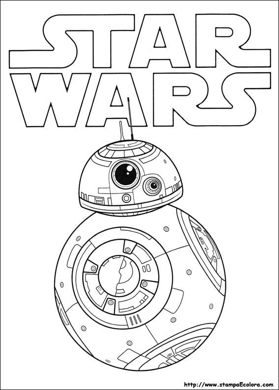 disegni da colorare star wars il risveglio della forza