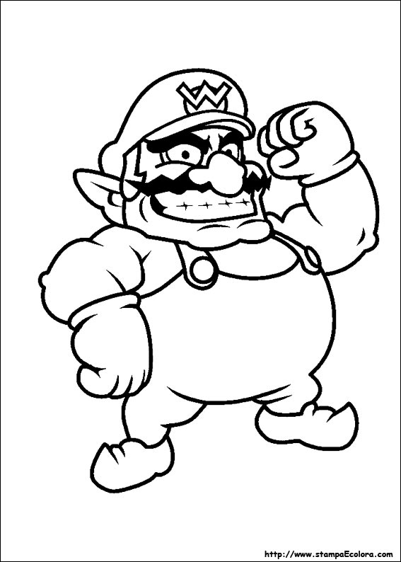 Disegni on Mario Coloring Pages