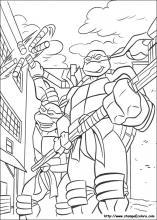 Immagini Delle Tartarughe Ninja Da Colorare.Disegni Di Tartarughe Ninja Da Colorare