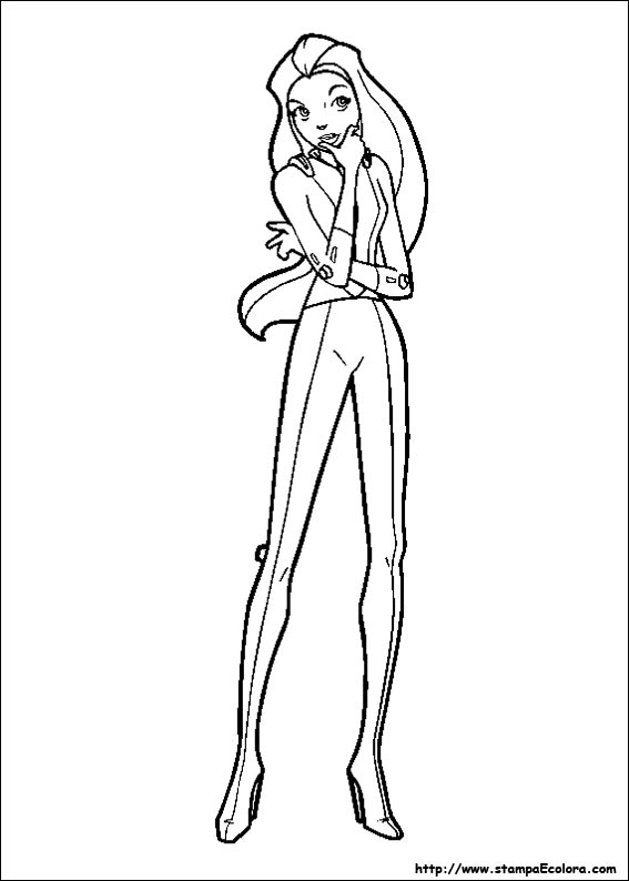 Disegni de totally spies for Totally spies coloring pages