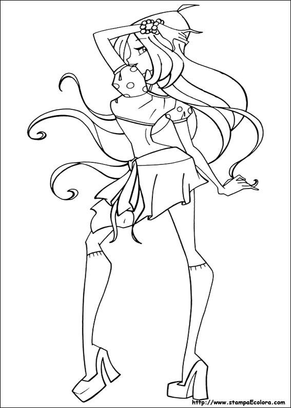 disegni da colorare winx mythix