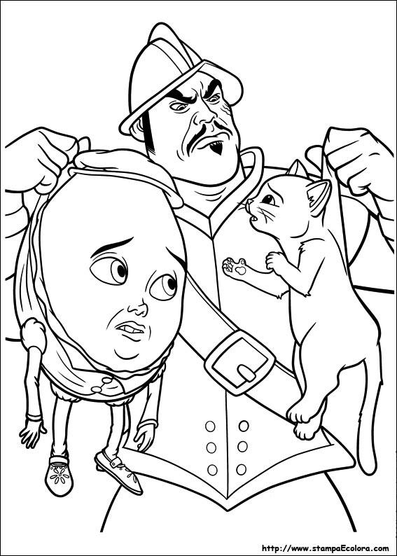 Disegni De Il Gatto Con Gli Stivali
