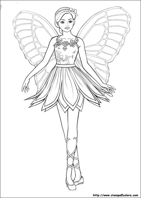 Disegni de barbie mariposa for Disegni barbie da colorare gratis
