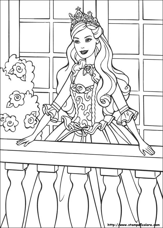 Disegni De Barbie La Principessa E La Povera