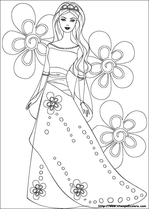 Disegni de barbie for Disegni da colorare barbie