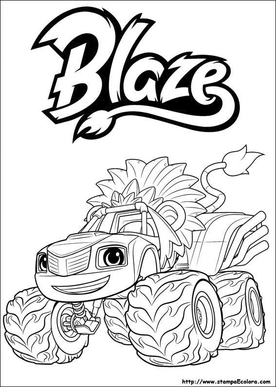Disegni de blaze e le mega macchine for Cartoni blaze