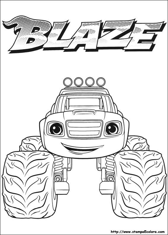 Blaze E Le Mega Macchine Disegni Da Colorare Powermall