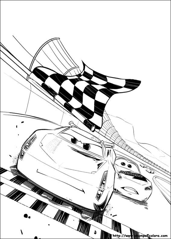 Disegni de cars 3 - Coloriage cars 3 ...