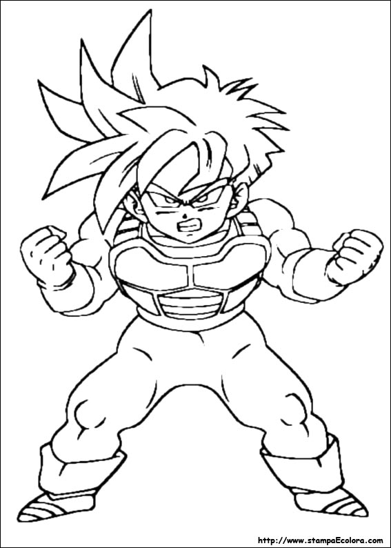 Disegni de dragon ball z for Kid goku coloring pages