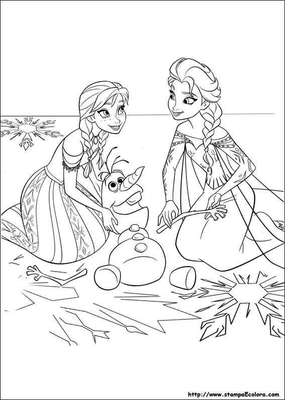 Disegni Di Frozen Il Regno Di Ghiaccio Stampae Colorare