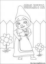Disegni di Gnomeo e Giulietta da colorare