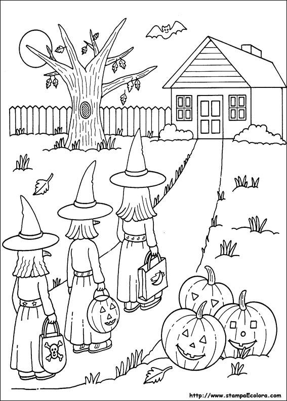 Disegni de halloween for Paesaggi facili da disegnare