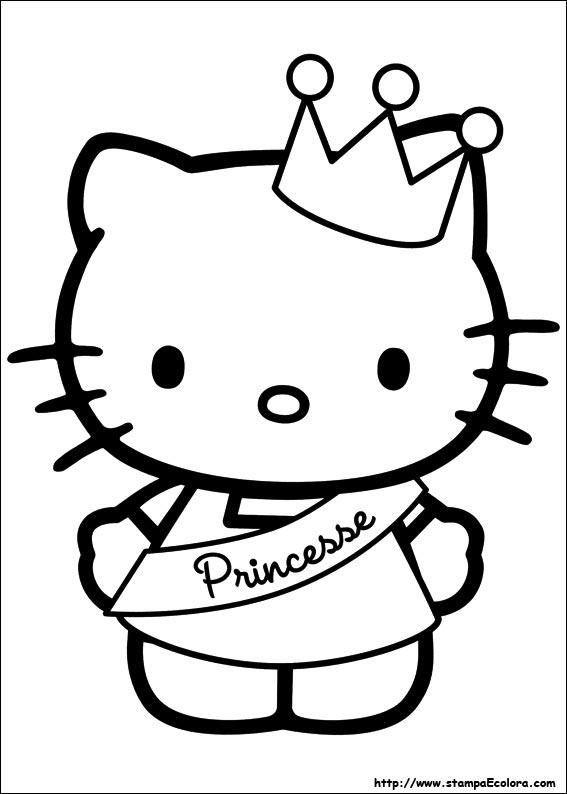 Disegni de hello kitty for Disegni da colorare hello kitty