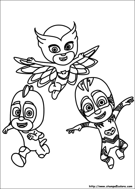 Disegni de pj masks super pigiamini for Disegni da colorare super pigiamini