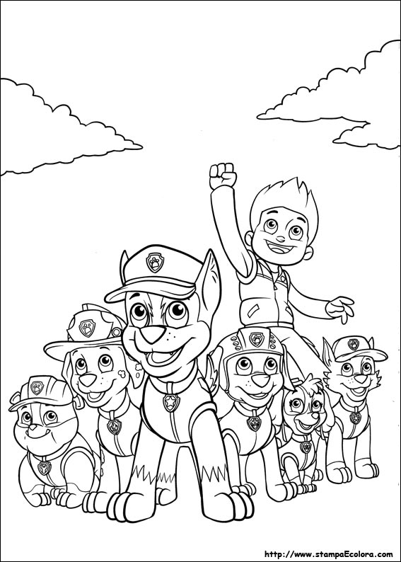 Disegni de paw patrol for Disegni da colorare paw patrol