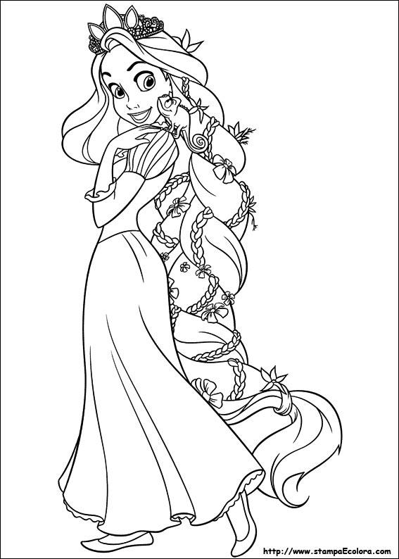 Disegni de rapunzel for La sirenetta da stampare