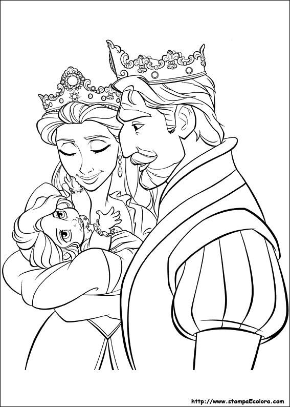 Disegni de rapunzel for Disegni da colorare e stampare di rapunzel