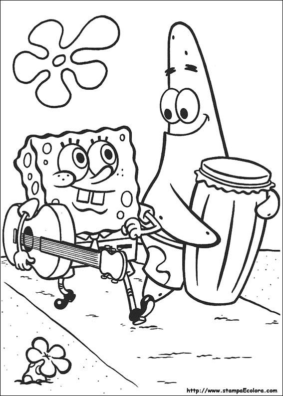 Disegni de spongebob for Cip e ciop immagini da colorare